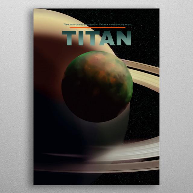 Titan metal poster