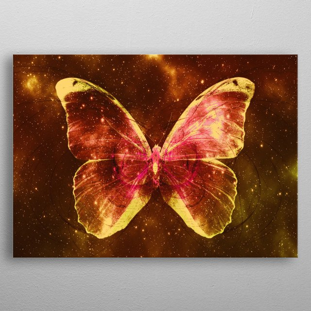 Space Butterfly 6 metal poster