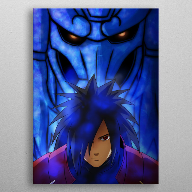 Blue energy monster  metal poster