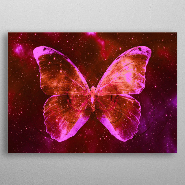 Space Butterfly 11 metal poster