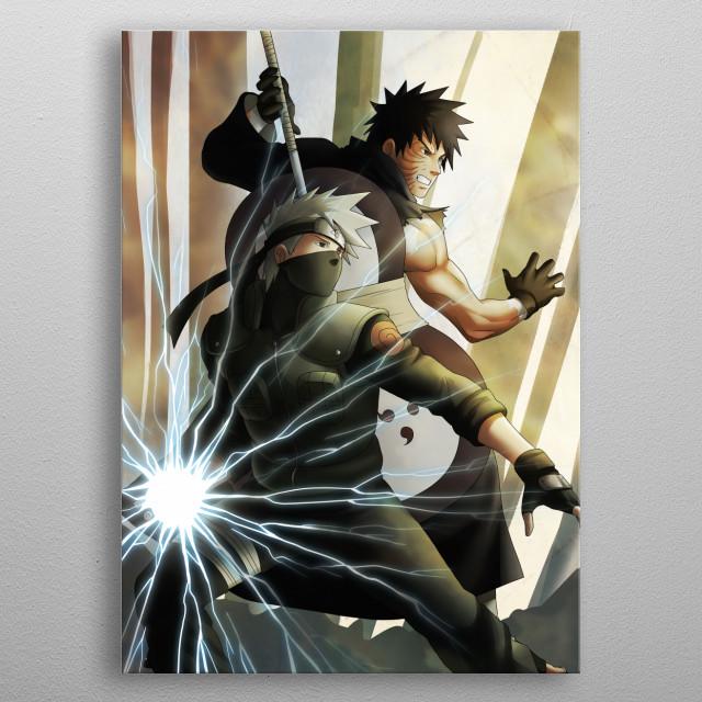 Sharingan / Chidori metal poster