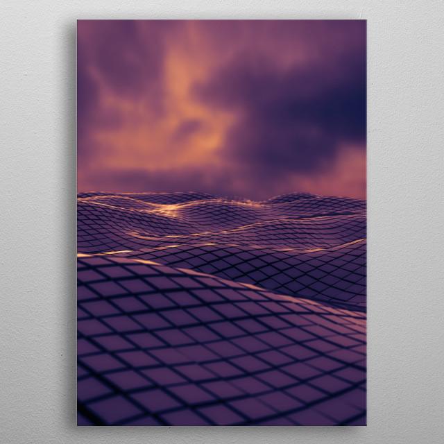 Purple Waves  metal poster