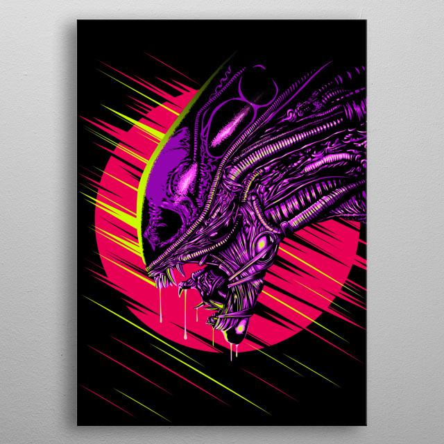 Psychological monster metal poster