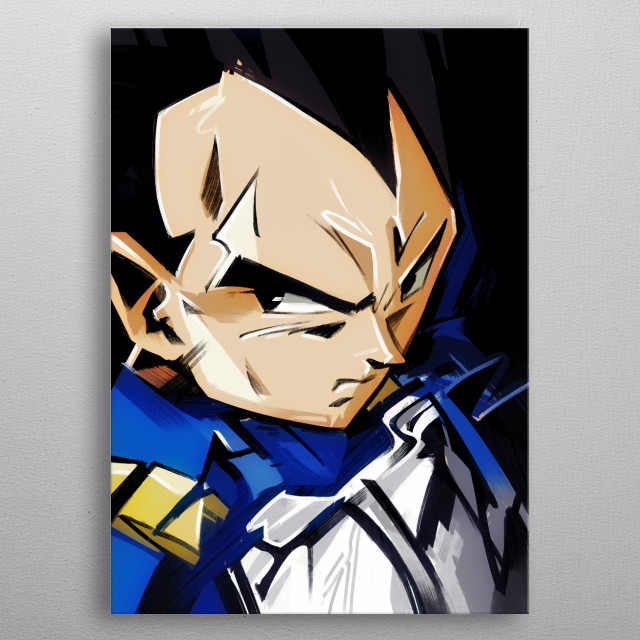 Vegetta the saiyan prince! metal poster