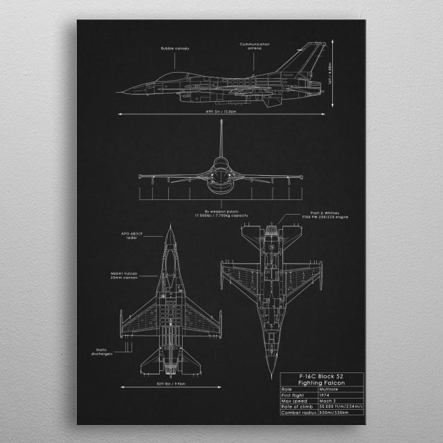 F-16C Fighting Falcon metal poster