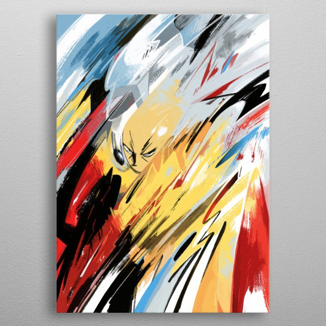 abstract punch ! metal poster