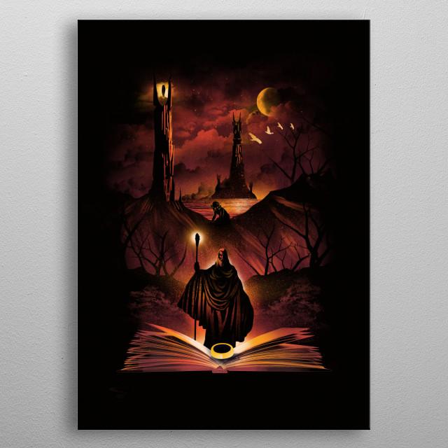 Book of Towers metal poster