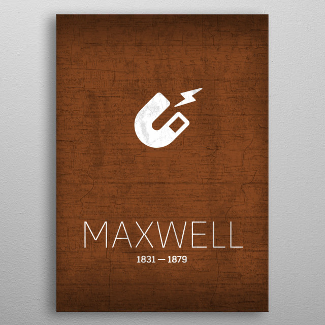 The Inventors Series Maxwell 036 metal poster