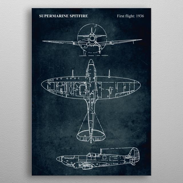 No023 - SUPERMARINE SPITFIRE - First flight 1936 metal poster