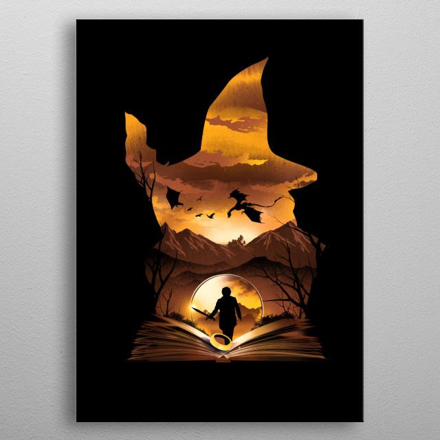 Book of Journey metal poster