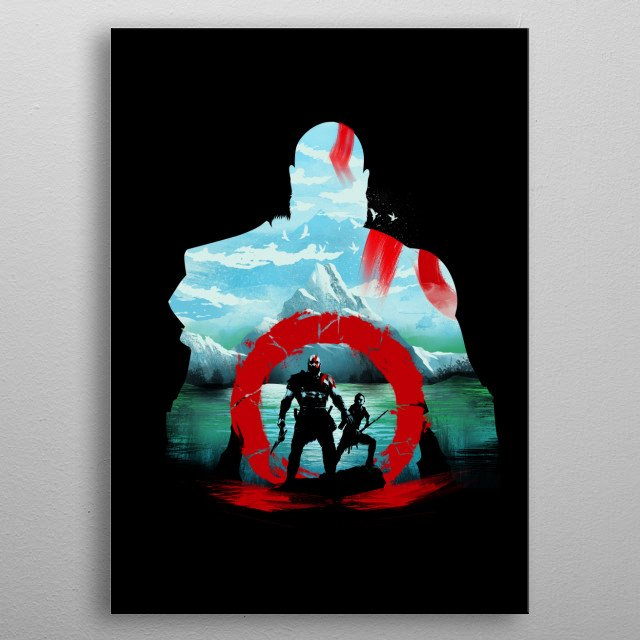 Father and Son Adventure metal poster