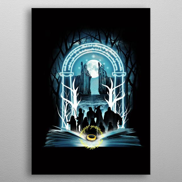 Book of Fellowship metal poster