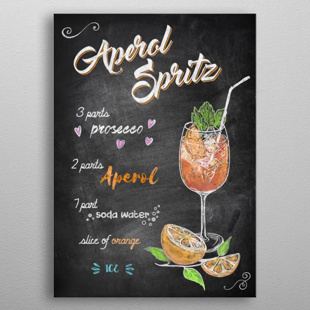 Aperol Spritz metal poster