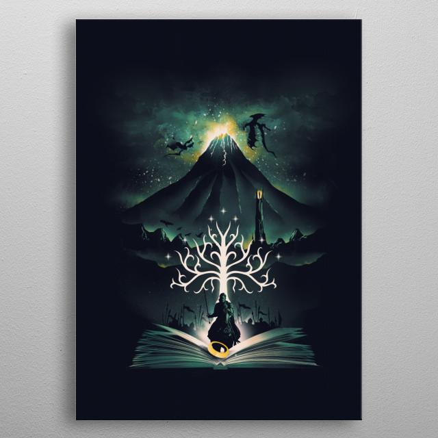 Book of the Return metal poster