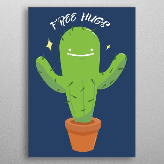 Free Hugs metal poster