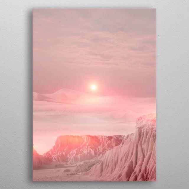 Pastel desert  metal poster