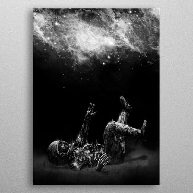 Far-off metal poster