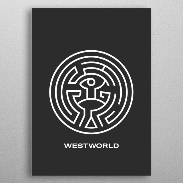 Westworld - Maze Logo metal poster