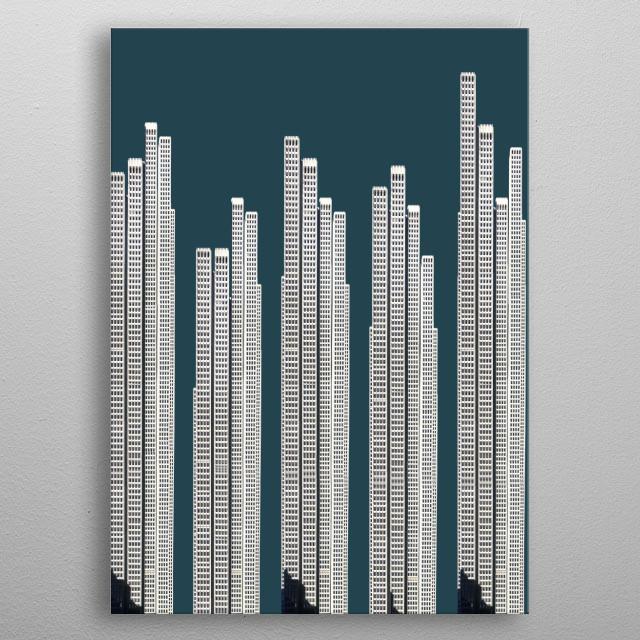 911 • Imagined Urbanism metal poster