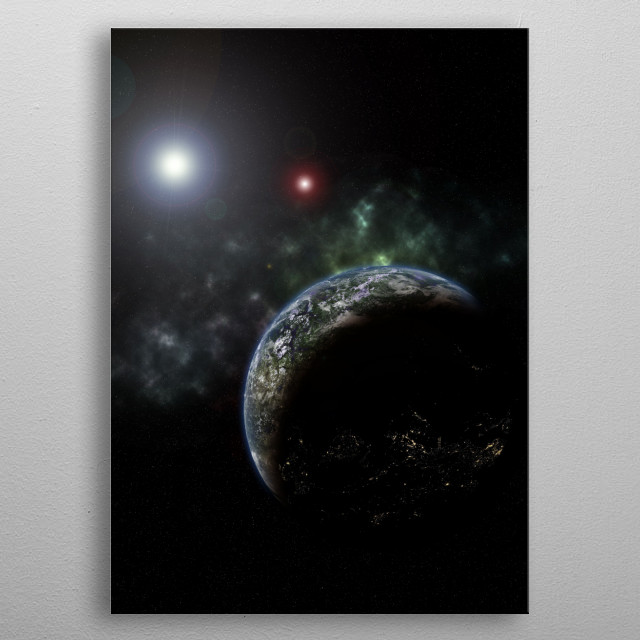 Colonization of Alpha Centauri is inevitable metal poster