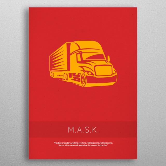MASK My Favorite TV Shows Series 005 metal poster