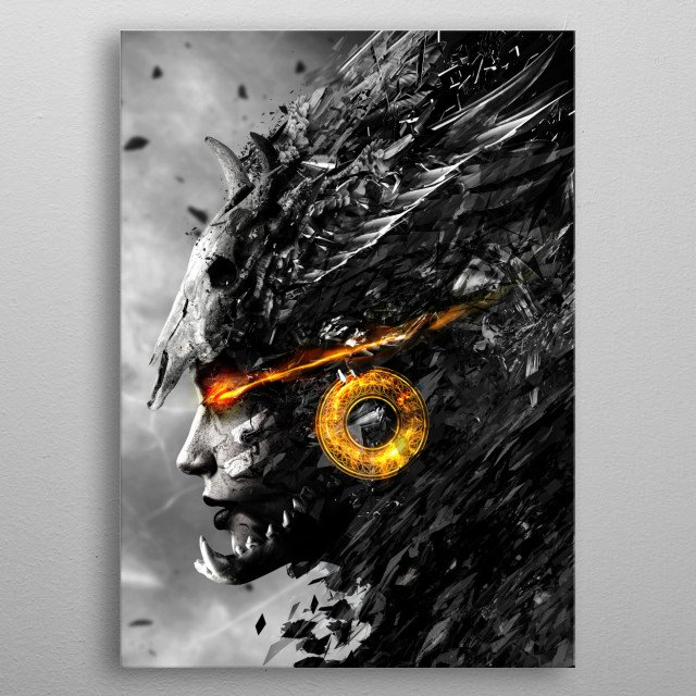 Warrior Angel metal poster