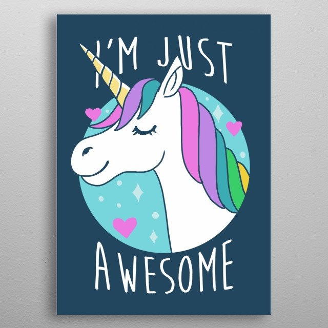I'm just awesome metal poster