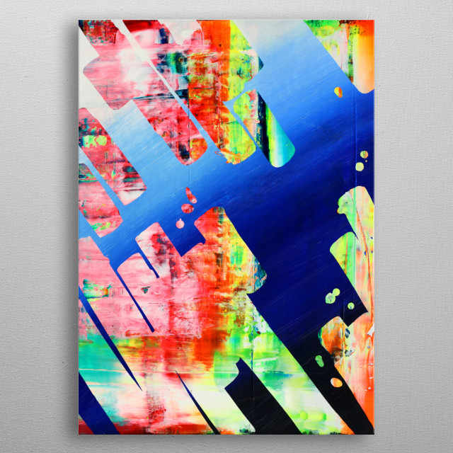 High-quality metal print from amazing Contemporary Brush Strokes collection will bring unique style to your space and will show off your personality. metal poster