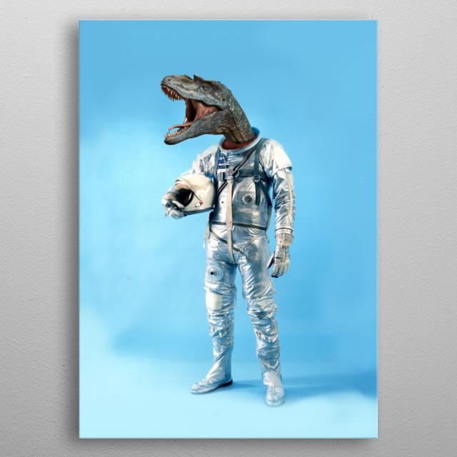 Astrodino metal poster
