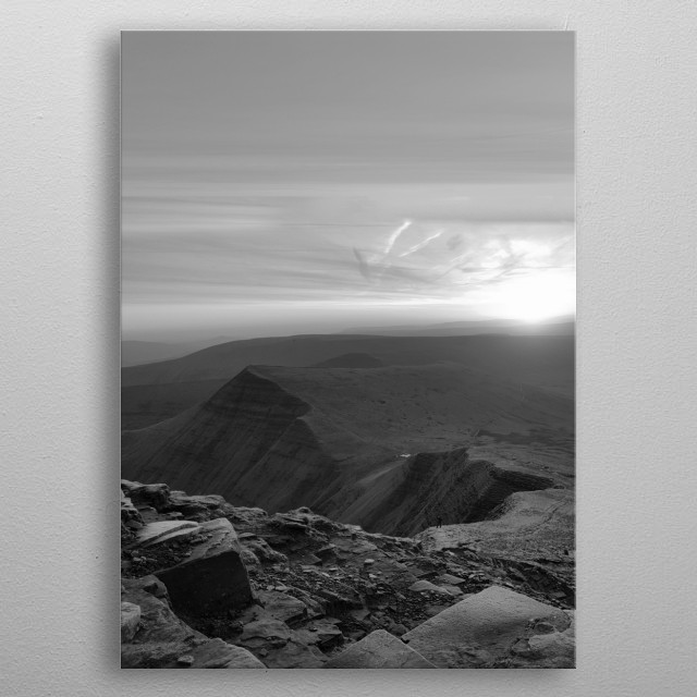 A Sunrise Over Jacobs Ladder metal poster