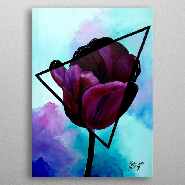 Dark Tulip metal poster