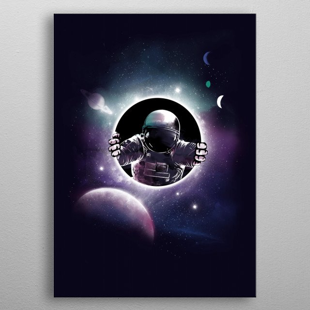 Fascinating metal poster designed by Dan Fajardo. Displate has a unique signature and hologram on the back to add authenticity to each design. metal poster