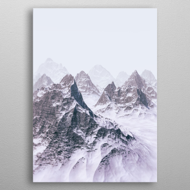 Border-less Misty Mountains metal poster