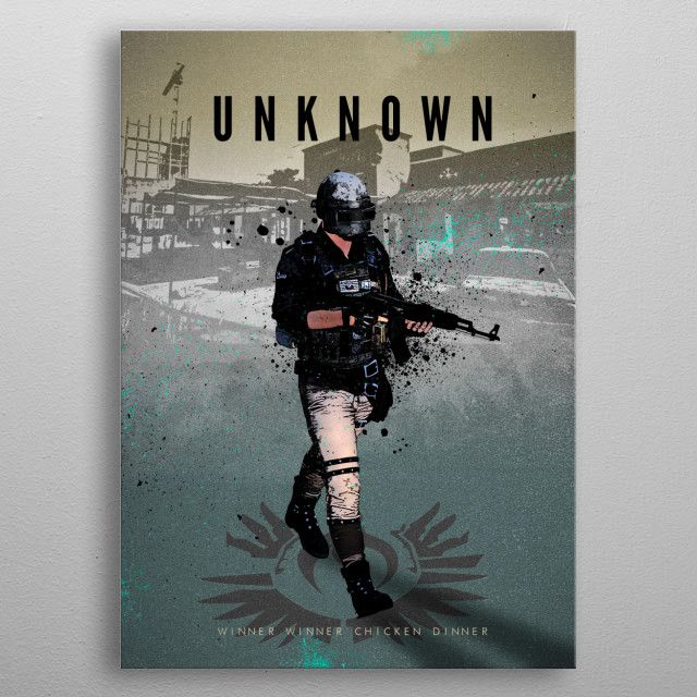 Legends of Gaming - Player Unknown from PUBG metal poster