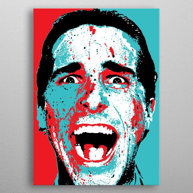 American Psycho - Patrick Bateman Scream metal poster