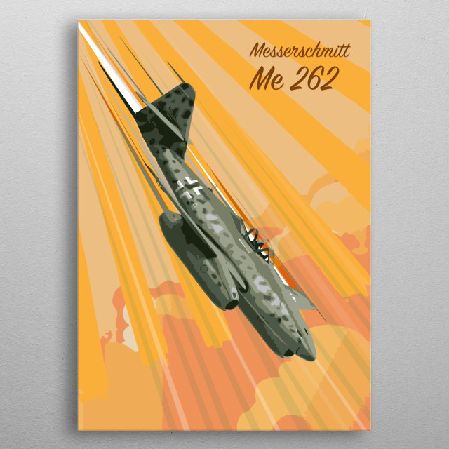 Messerschmitt ME 262 pop Art metal poster