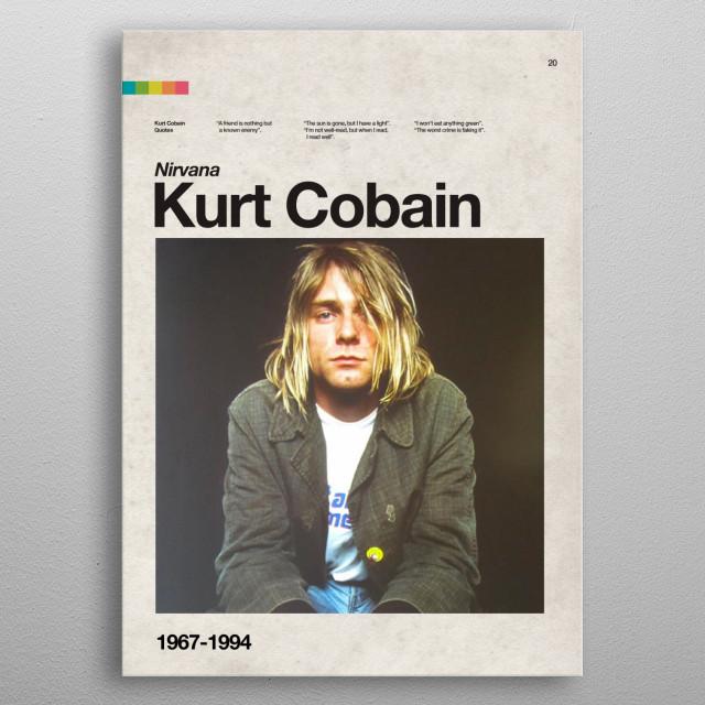 B-20. Kurt Cobain metal poster
