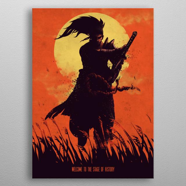 Samurai metal poster