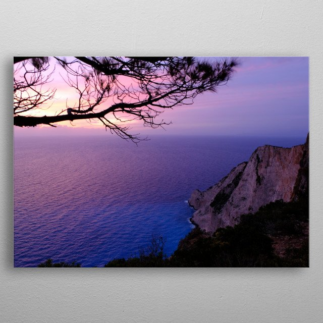 From the standing point in Zakynthos Island metal poster