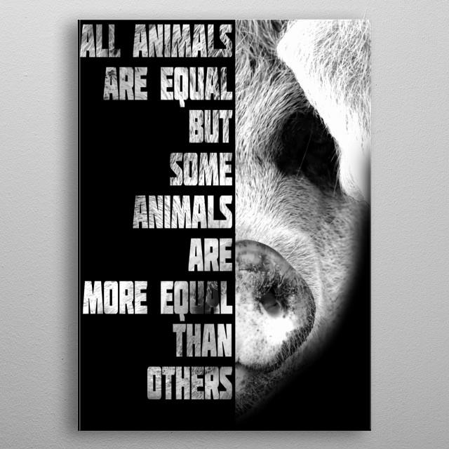 Animal Farm metal poster