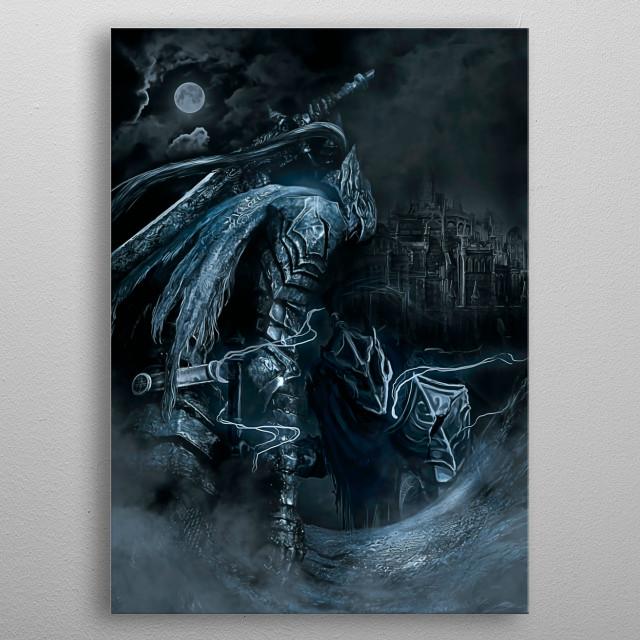 02   Double Artorias   Dark Souls metal poster