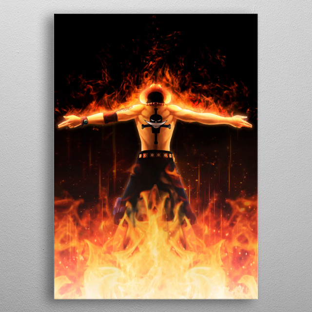 Fire Ace - Artwork  metal poster
