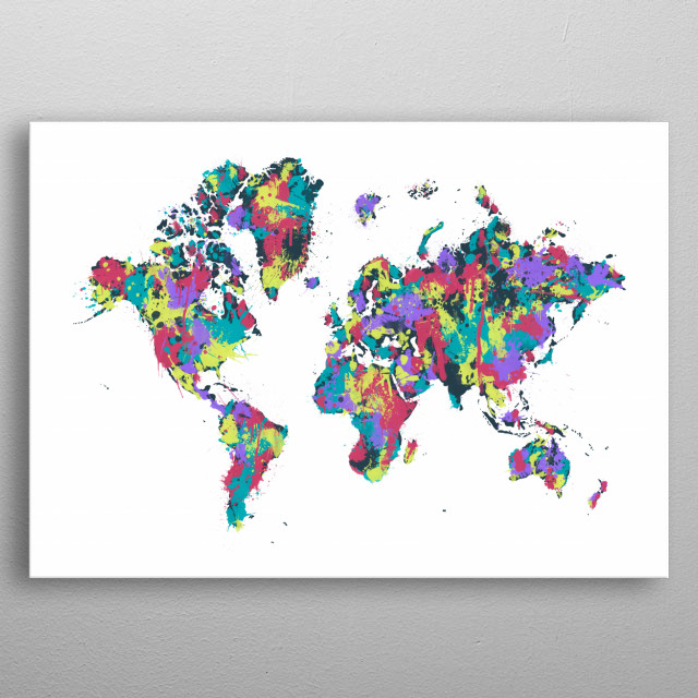 MODERN GRAPHIC ART World M Travel Poster Print | metal ... on modern china map poster, modern world map decal, modern germany poster, modern space map poster, modern world map print, modern travel poster, modern wall art, modern world map design, modern world map canvas, modern art poster,