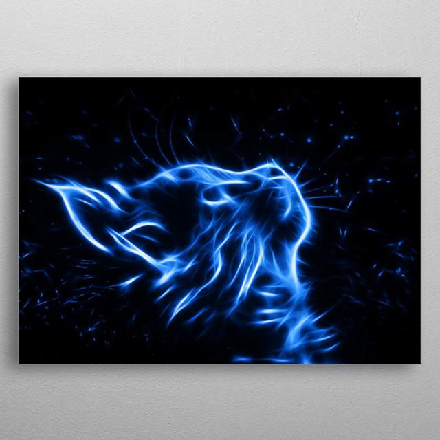 Patronus Cat metal poster