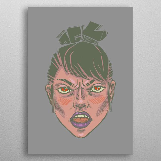 Anger metal poster