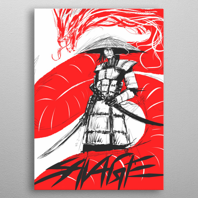 Samurai Warrior metal poster
