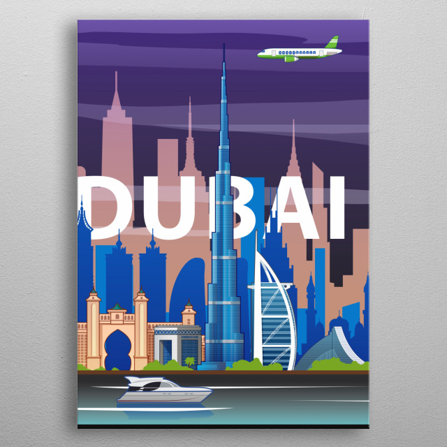 Dubai #4 metal poster