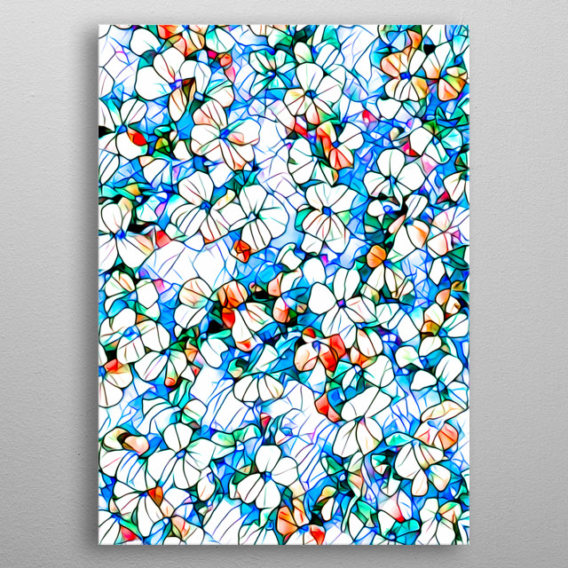 Stained glass mosaic number 7 - flowers For contact and inquiries, please go to  Open for suggestions and requests. metal poster
