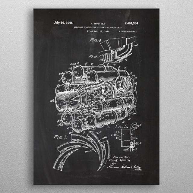 1941 Aircraft Propulsion System and Power Unit metal poster