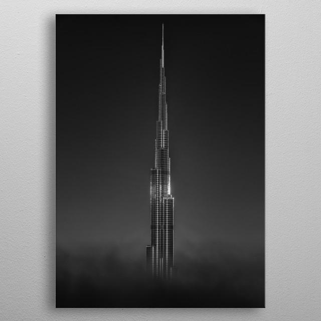 Burj khlifa metal poster